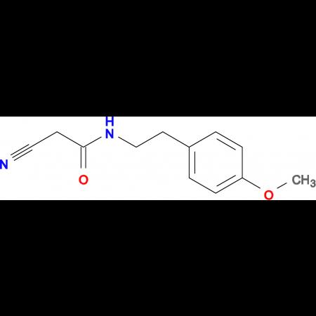 2-cyano-N-[2-(4-methoxyphenyl)ethyl]acetamide