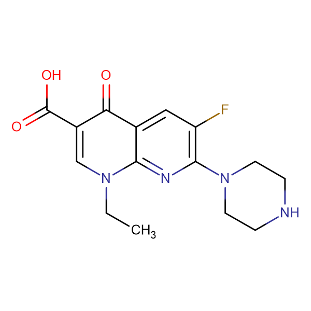 1-ethyl-6-fluoro-4-oxo-7-(piperazin-1-yl)-1,4-dihydro-1,8-naphthyridine-3-carboxylic acid