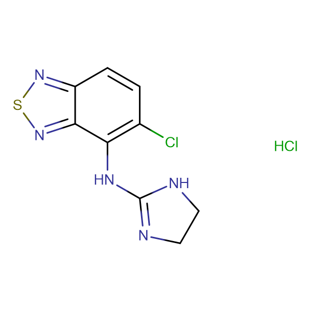5-chloro-N-(4,5-dihydro-1H-imidazol-2-yl)-2,1,3-benzothiadiazol-4-amine hydrochloride