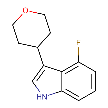 4-Fluoro-3-(tetrahydro-2H-pyran-4-yl)-1H-indole