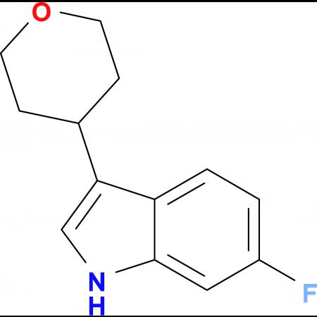 6-Fluoro-3-(tetrahydro-2H-pyran-4-yl)-1H-indole