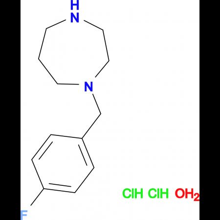 1-(4-fluorobenzyl)-1,4-diazepane dihydrochloride hydrate