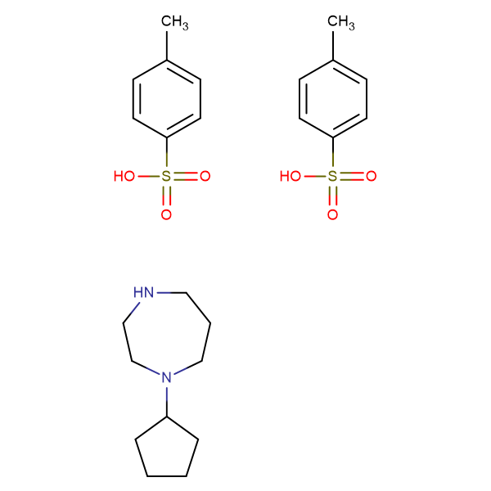 1-cyclopentyl-1,4-diazepane bis(4-methylbenzenesulfonate)