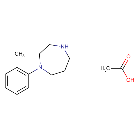 1-(2-methylphenyl)-1,4-diazepane acetate