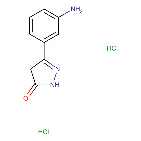 5-(3-aminophenyl)-2,4-dihydro-3H-pyrazol-3-one dihydrochloride