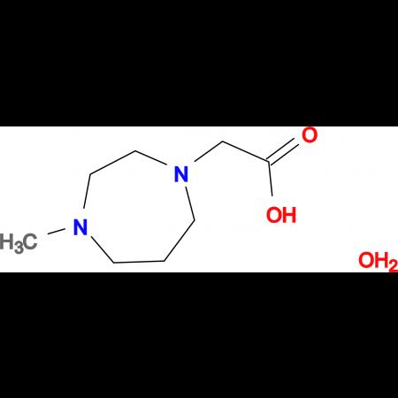 (4-methyl-1,4-diazepan-1-yl)acetic acid hydrate