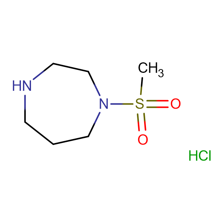 1-(methylsulfonyl)-1,4-diazepane hydrochloride