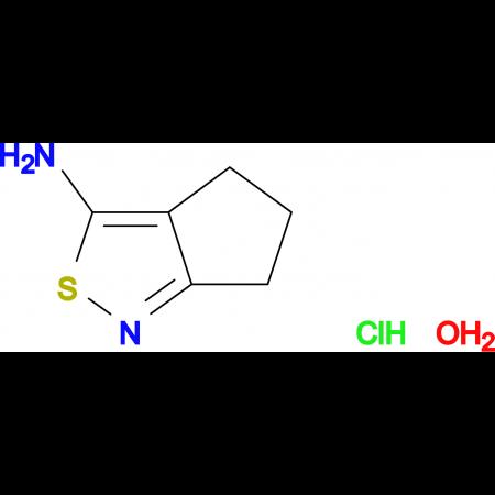 5,6-dihydro-4H-cyclopenta[c]isothiazol-3-amine hydrochloride hydrate