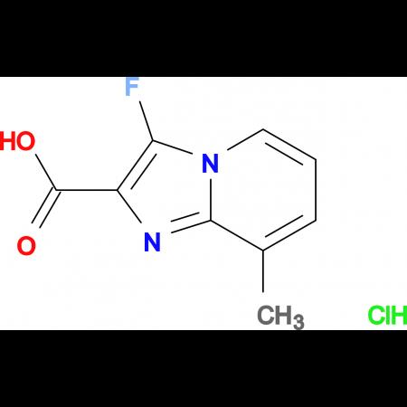 3-fluoro-8-methylimidazo[1,2-a]pyridine-2-carboxylic acid hydrochloride