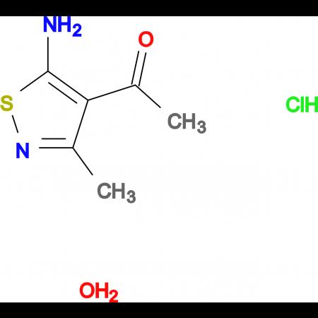 1-(5-amino-3-methyl-4-isothiazolyl)ethanone hydrochloride hydrate