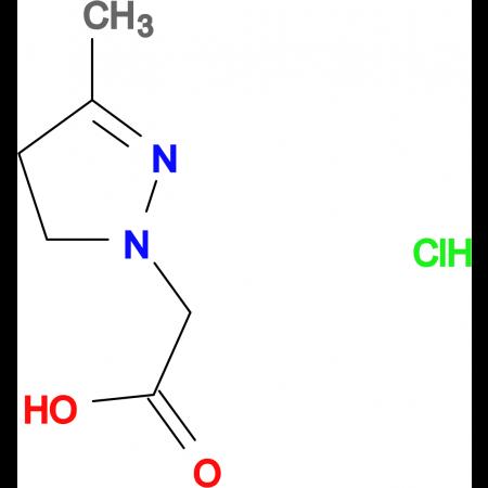 (3-methyl-4,5-dihydro-1H-pyrazol-1-yl)acetic acid hydrochloride
