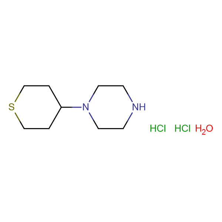 1-(tetrahydro-2H-thiopyran-4-yl)piperazine dihydrochloride hydrate