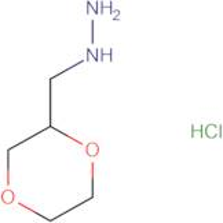 (1,4-dioxan-2-ylmethyl)hydrazine hydrochloride