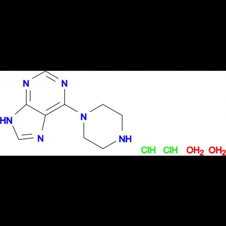 6-(1-piperazinyl)-9H-purine dihydrochloride dihydrate