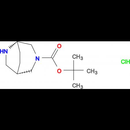 tert-butyl (1S,5S)-3,6-diazabicyclo[3.2.2]nonane-3-carboxylate hydrochloride