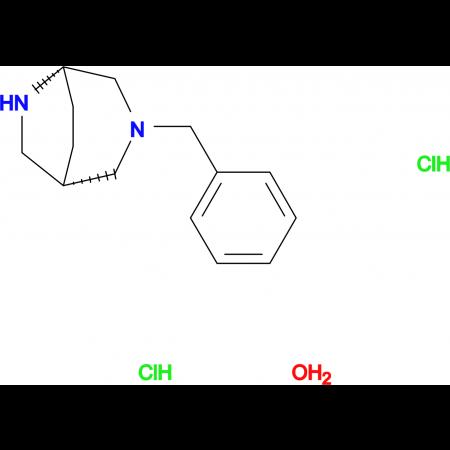(1S,5S)-3-benzyl-3,6-diazabicyclo[3.2.2]nonane dihydrochloride hydrate