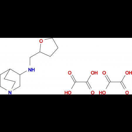 N-(tetrahydro-2-furanylmethyl)quinuclidin-3-amine diethanedioate