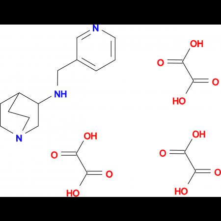 N-(3-pyridinylmethyl)quinuclidin-3-amine triethanedioate