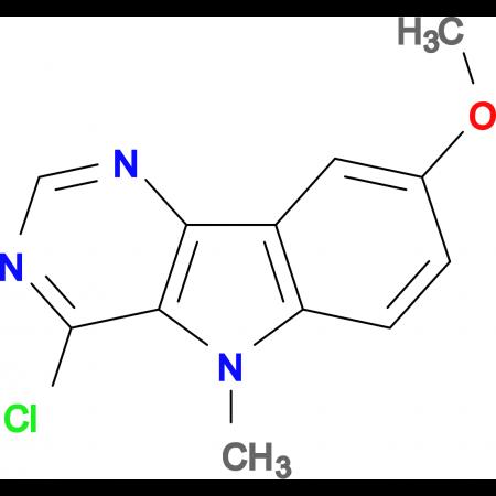 4-chloro-8-methoxy-5-methyl-5H-pyrimido[5,4-b]indole