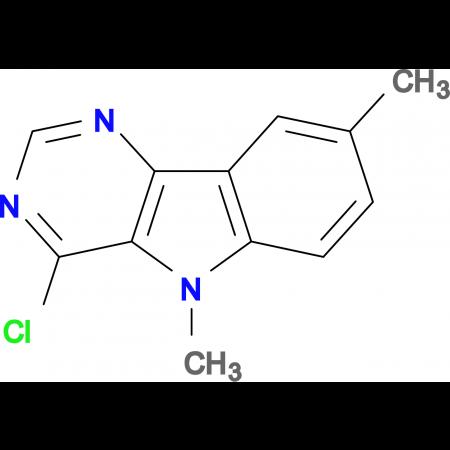 4-chloro-5,8-dimethyl-5H-pyrimido[5,4-b]indole