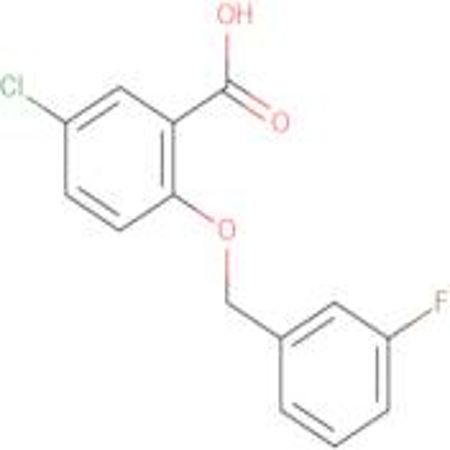 5-chloro-2-[(3-fluorobenzyl)oxy]benzoic acid