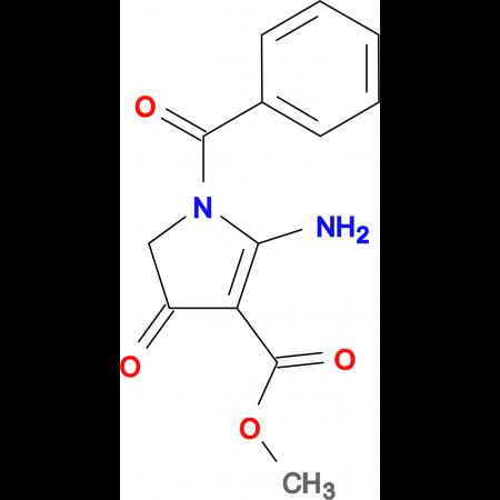 methyl 2-amino-1-benzoyl-4-oxo-4,5-dihydro-1H-pyrrole-3-carboxylate