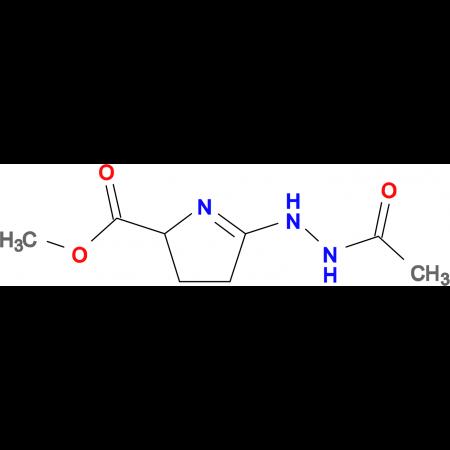 methyl 5-(2-acetylhydrazino)-3,4-dihydro-2H-pyrrole-2-carboxylate
