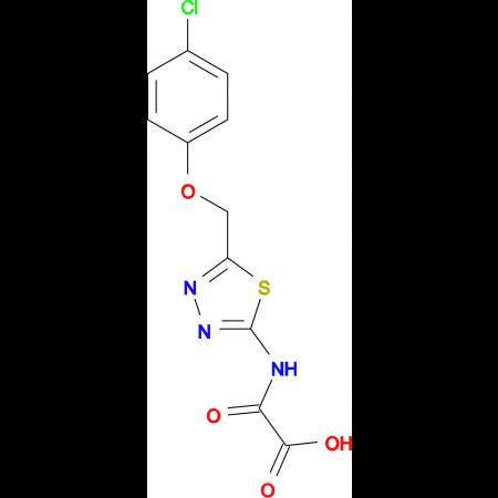 ({5-[(4-chlorophenoxy)methyl]-1,3,4-thiadiazol-2-yl}amino)(oxo)acetic acid