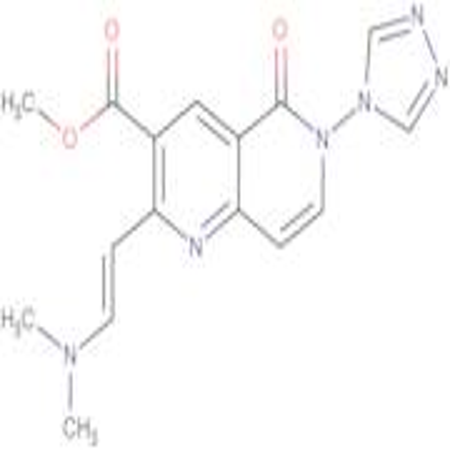 methyl 2-[(E)-2-(dimethylamino)vinyl]-5-oxo-6-(4H-1,2,4-triazol-4-yl)-5,6-dihydro-1,6-naphthyridine-3-carboxylate