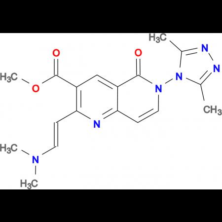 methyl 2-[(E)-2-(dimethylamino)vinyl]-6-(3,5-dimethyl-4H-1,2,4-triazol-4-yl)-5-oxo-5,6-dihydro-1,6-naphthyridine-3-carboxylate