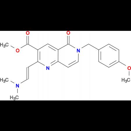 methyl 2-[(E)-2-(dimethylamino)vinyl]-6-(4-methoxybenzyl)-5-oxo-5,6-dihydro-1,6-naphthyridine-3-carboxylate