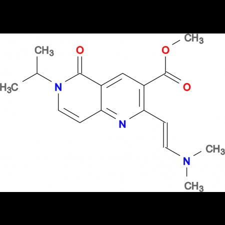 methyl 2-[(E)-2-(dimethylamino)vinyl]-6-isopropyl-5-oxo-5,6-dihydro-1,6-naphthyridine-3-carboxylate