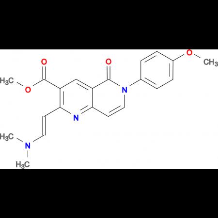 methyl 2-[(E)-2-(dimethylamino)vinyl]-6-(4-methoxyphenyl)-5-oxo-5,6-dihydro-1,6-naphthyridine-3-carboxylate