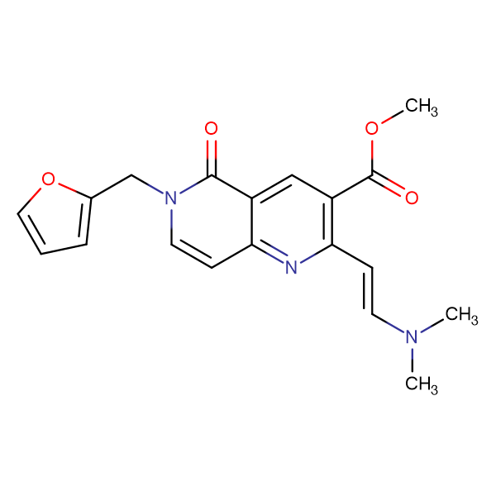 methyl 2-[(E)-2-(dimethylamino)vinyl]-6-(2-furylmethyl)-5-oxo-5,6-dihydro-1,6-naphthyridine-3-carboxylate