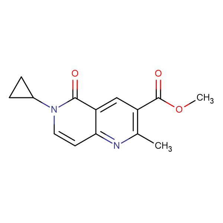 methyl 6-cyclopropyl-2-methyl-5-oxo-5,6-dihydro-1,6-naphthyridine-3-carboxylate