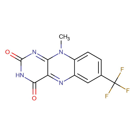 10-methyl-7-(trifluoromethyl)benzo[g]pteridine-2,4(3H,10H)-dione