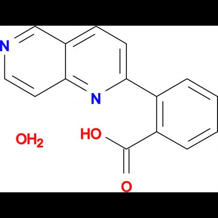 2-(1,6-Naphthyridin-2-yl)benzoic acid hydrate