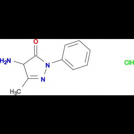 4-amino-5-methyl-2-phenyl-2,4-dihydro-3H-pyrazol-3-one hydrochloride