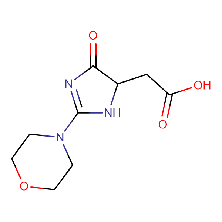 (2-morpholin-4-yl-4-oxo-4,5-dihydro-1H-imidazol-5-yl)acetic acid