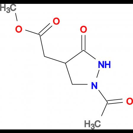 methyl (1-acetyl-3-oxopyrazolidin-4-yl)acetate