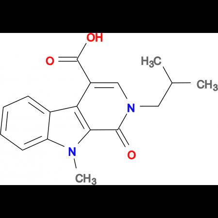 2-isobutyl-9-methyl-1-oxo-2,9-dihydro-1H-beta-carboline-4-carboxylic acid
