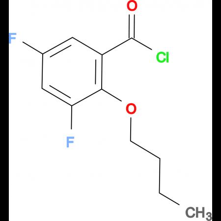 2-n-Butoxy-3,5-difluorobenzoyl chloride