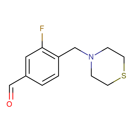 3-Fluoro-4-[(4-thiomorpholino)methyl]benzaldehyde