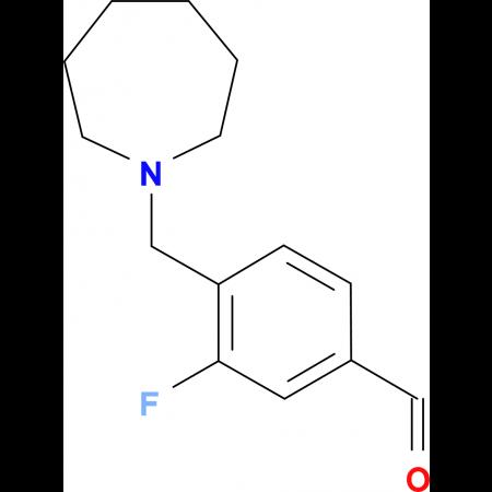 3-Fluoro-4-[(1-homopiperidino)methyl]benzaldehyde