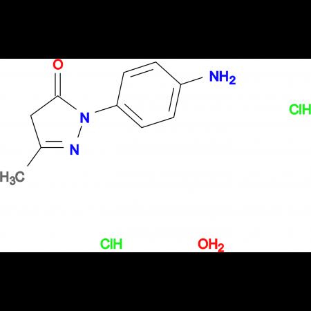 2-(4-aminophenyl)-5-methyl-2,4-dihydro-3H-pyrazol-3-one dihydrochloride hydrate