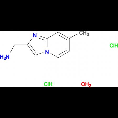 [(7-methylimidazo[1,2-a]pyridin-2-yl)methyl]amine dihydrochloride hydrate