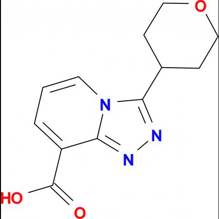 3-(Tetrahydro-2H-pyran-4-yl)-[1,2,4]triazolo[4,3-a]pyridine-8-carboxylic acid