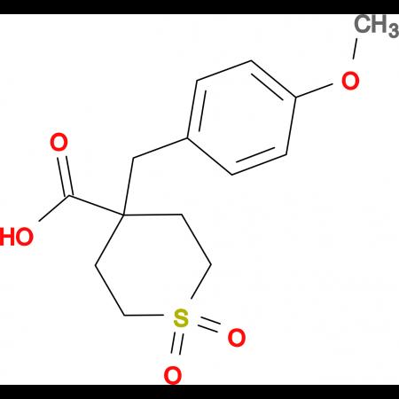 4-(4-Methoxybenzyl)tetrahydro-2H-thiopyran-4-carboxylic acid 1,1-dioxide