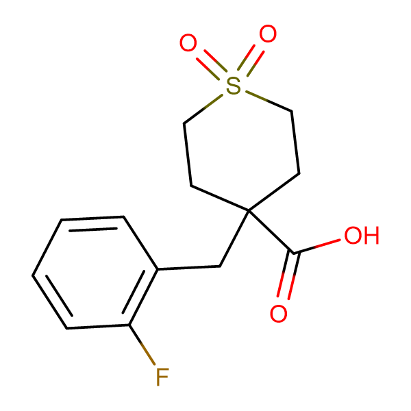 4-(2-Fluorobenzyl)tetrahydro-2H-thiopyran-4-carboxylic acid 1,1-dioxide
