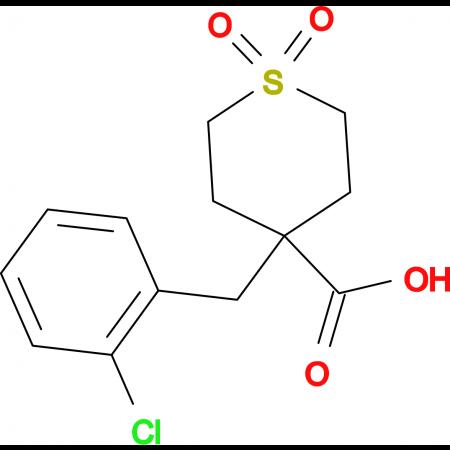 4-(2-Chlorobenzyl)tetrahydro-2H-thiopyran-4-carboxylic acid 1,1-dioxide